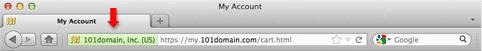 Зеленая панель в Firefox для Mac