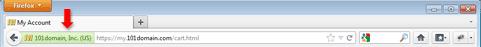 Зеленая панель в Firefox для Windows